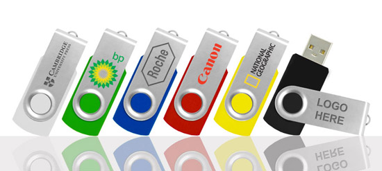 2GB Twister USB Drives