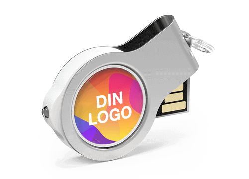 Light - USB Minnepenn Med Logo